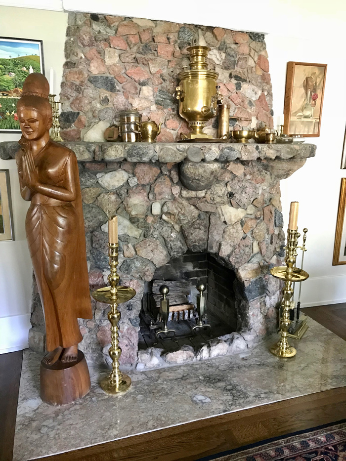 Check out this gorgeous fire place