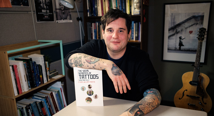 Chris Martin's new book, The Social Semiotics of Tattoos: Skin and Self, came to be after a year of total immersion into life at Railbender Tattoo Studio.