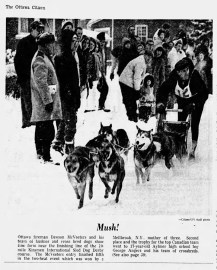 Photo published in the The Ottawa Citizen, Monday Jan. 30 1967.