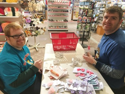 WAVE program apprentices Devin and Connor at Mrs Tiggy Winkles in Westboro. Photo submitted