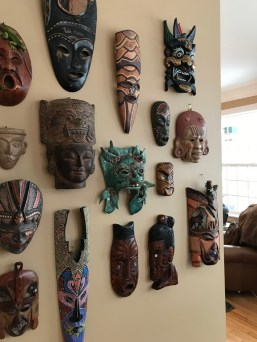 Mask collection! Photo by Andrea Tomkins