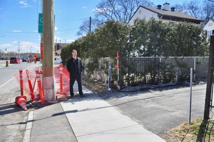 Ottawa Hydro installed a hydro pole on this driveway