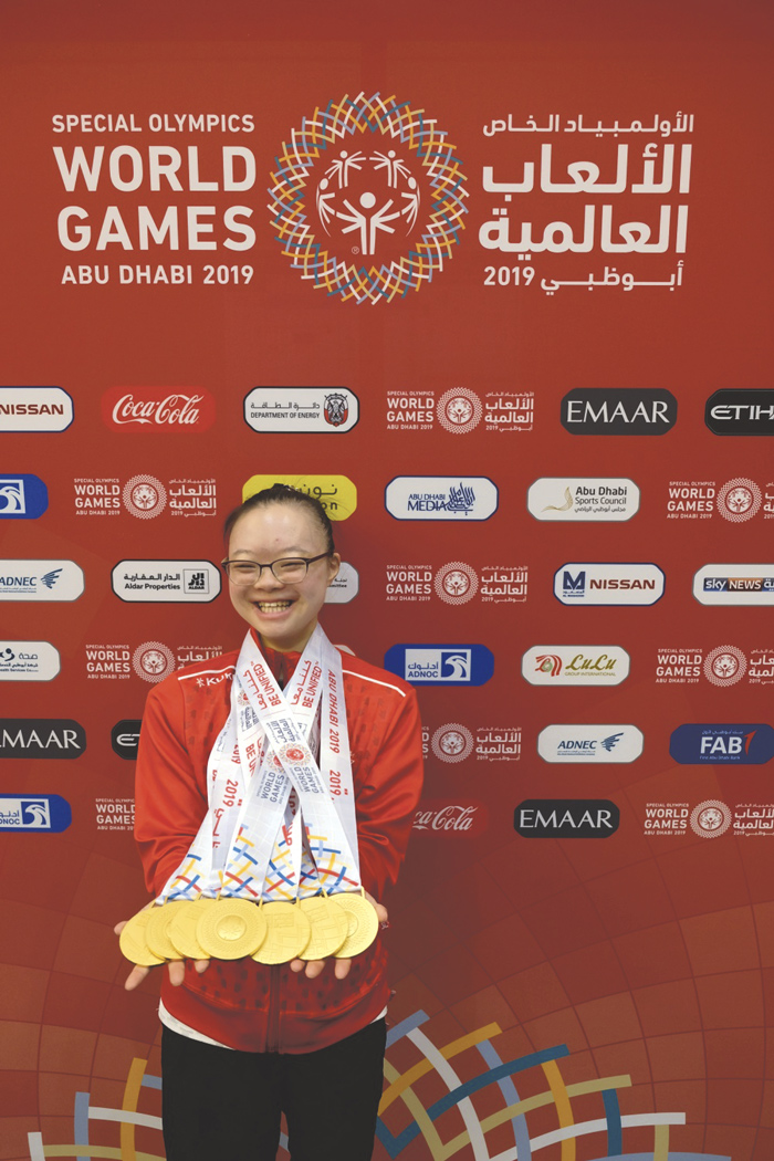 Competing in rhythmic gymnastics for a decade, McKellar Park resident Kimana Mar won seven gold medals at the Special Olympics World Games held March 14-21 in United Arab Emirates. Photo courtesy By Anthony Mar