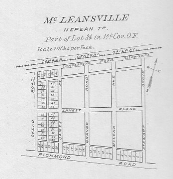 1879 McLeansville map