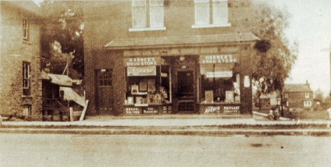 Harmer's Drug Store (now Petit Bill's Bistro) 1928 (Photo courtesy of Mrs. Joanne Bocking)
