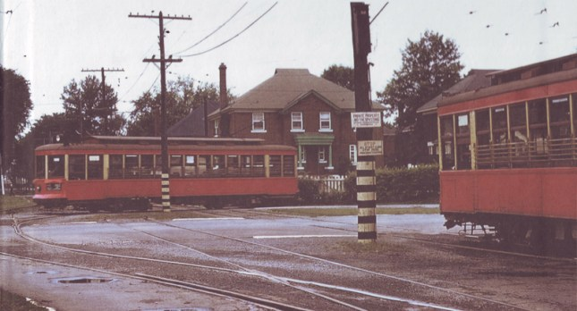 Streetcar turnaround at Byron and Harmer