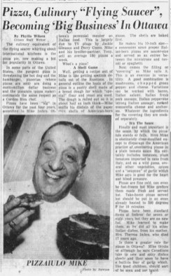 Clipping from the Jan 9 1958 edition of the Ottawa Citizen