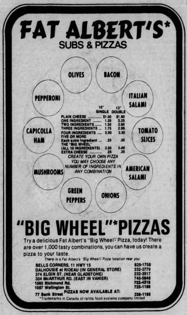 1974 advertisement from the Ottawa Citizen