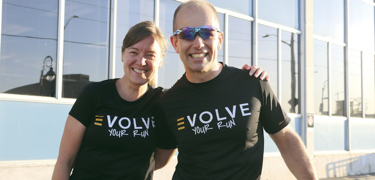 Leah Reinberger and Trevor Davies, who started the Evolve Run Club.