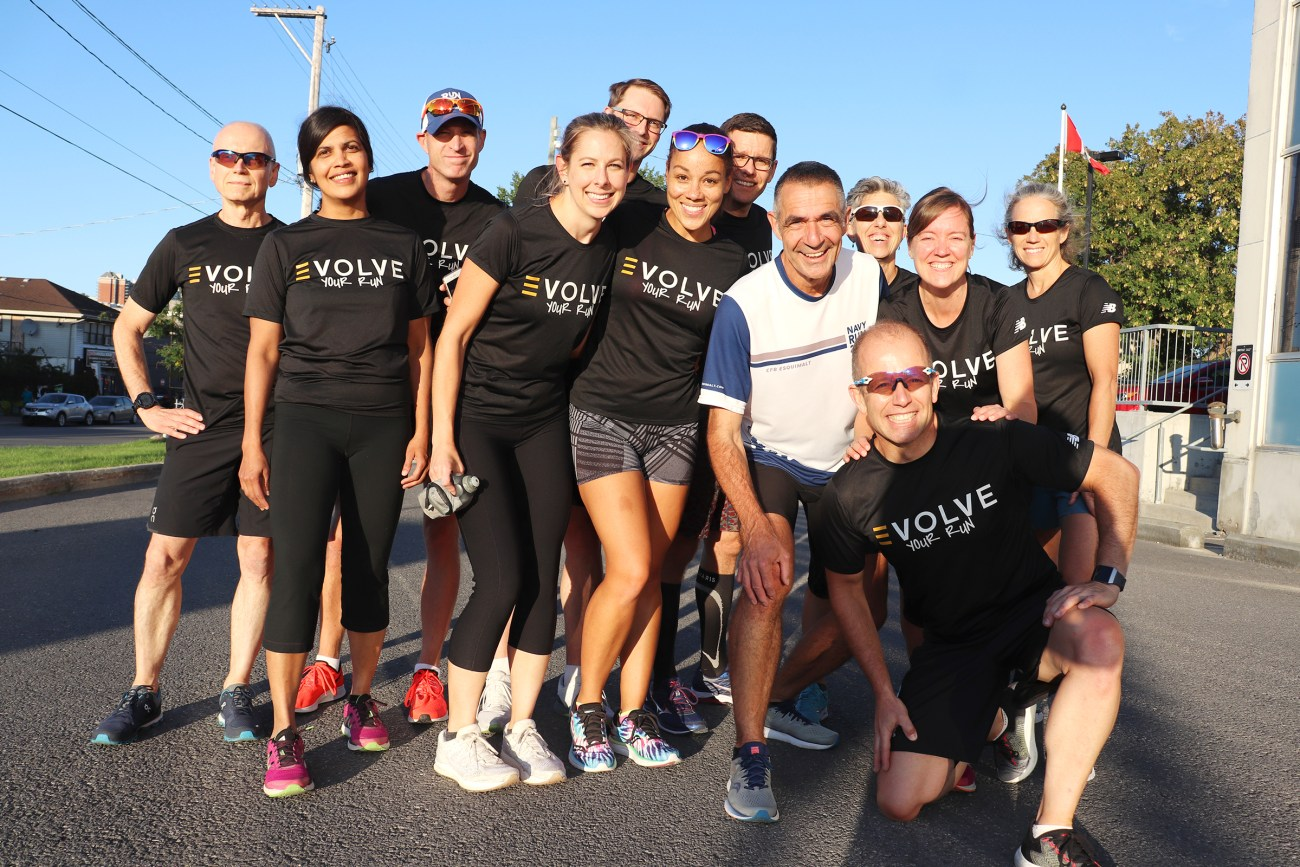 The first group of runners at Evolve Run Club spent a little over two months training for the Army Run.