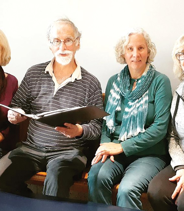 Kitchissippi residents and Just Voices members Maggie Simpson, Aaron Spector, Eva Schacherl and Phyllis Kessler.