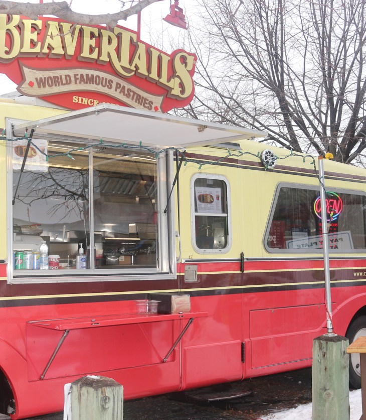 "The ""Beau Benji"" serves up beavertails in the parking lot of West Park Lanes Bowling Alley."