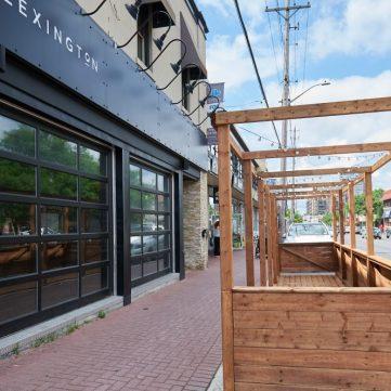Patio space outside of Lexington Smokehouse & Bar. in Westboro. Photo by Ellen Bond.