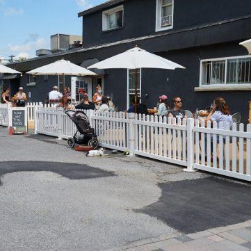 It's patio time on Wellington Street West. Photo by Ellen Bond.