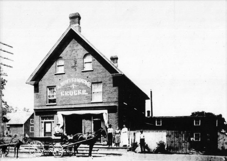 A photo of the original hotel/store that was on the Richmond block in the late 1800s.