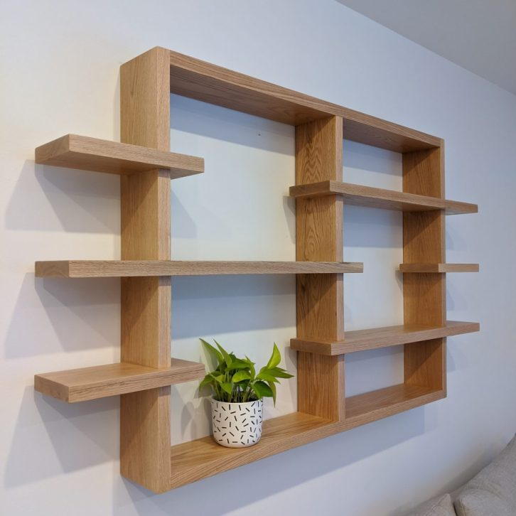 A photo of a custom shelf made by Maker House.
