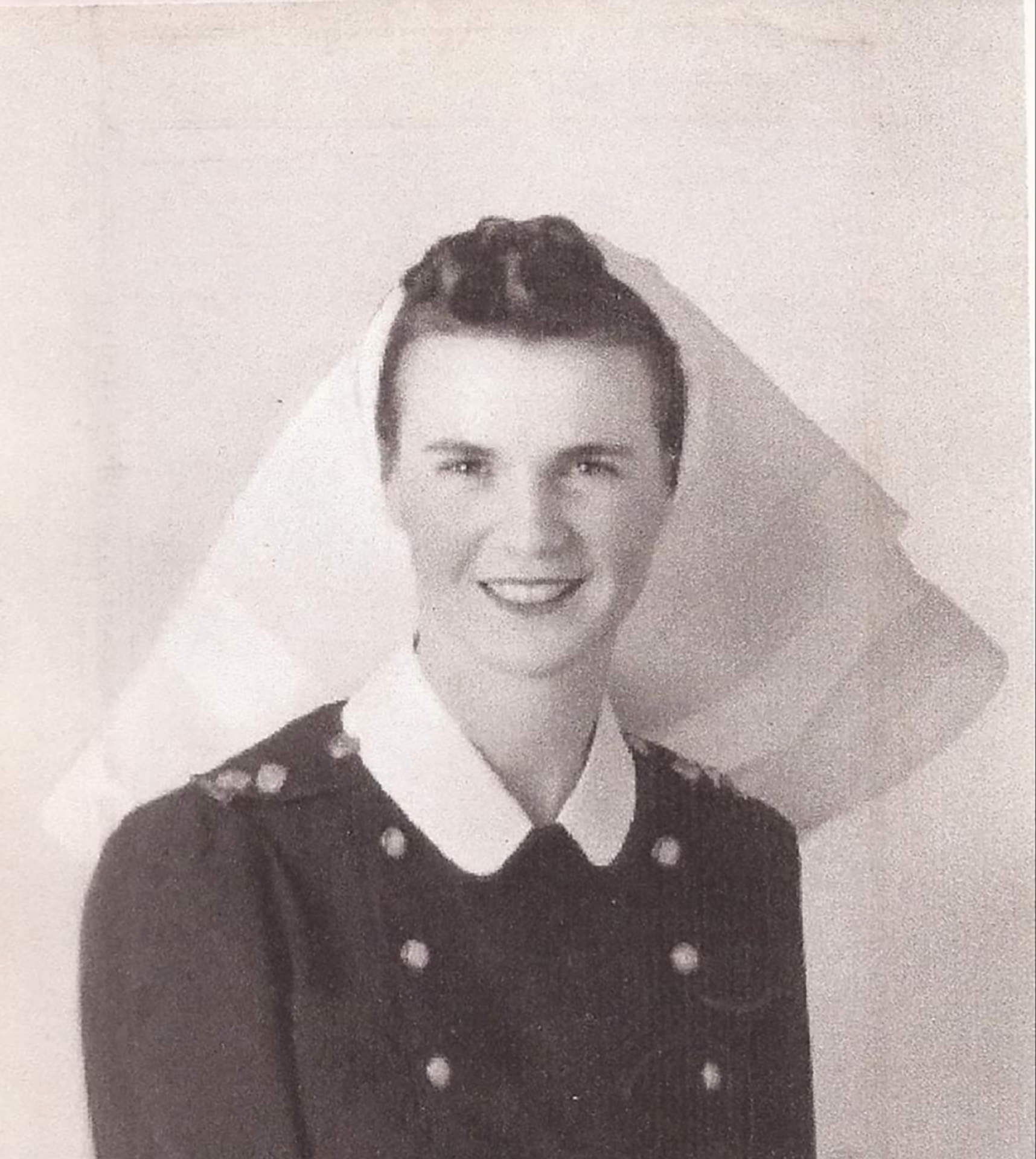 A photo of Ida Crocker in the Canadian military in WWII.