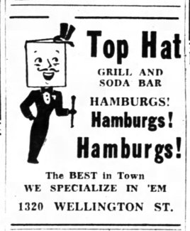 A Top Hat ad on hamburgers that ran in the Ottawa Citizen.