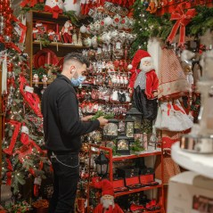 Tinseltown Christmas Emporium owner Audy Czigler works away in the store during a very busy November.