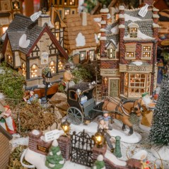 A collectible holiday village at Tinseltown.