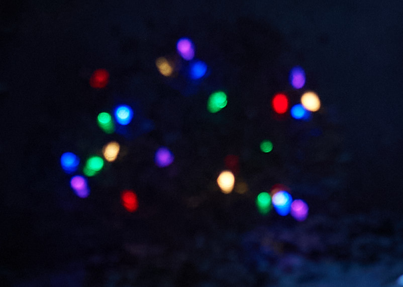 Multi-coloured lights are seen close up in Kitchissippi.