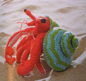 Hansi Singh's amazing hermit crab (from her book)