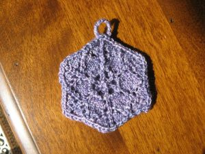 "My ""snowflake"" ornament. Of course it's purple."