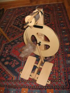 My new used spinning wheel!
