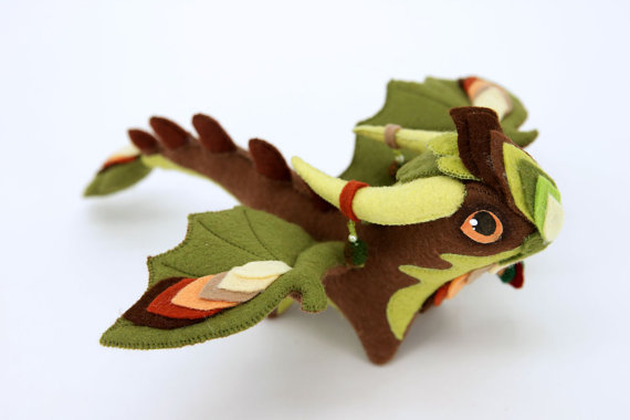 A soft sculpture dragon by Olga Shirobana (UniversesSwirls)