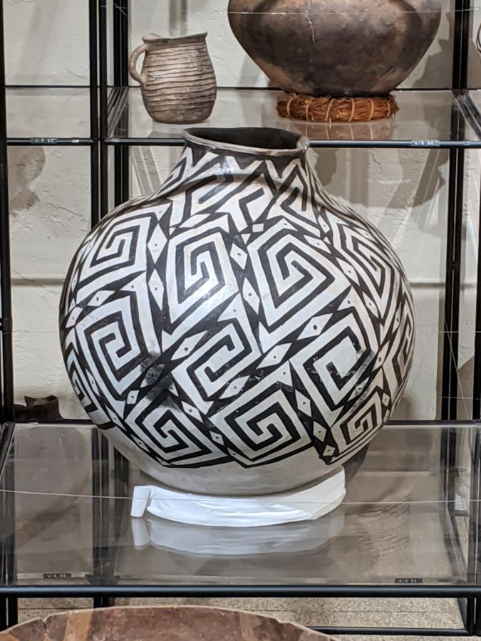 Black and white pot from The Edge of the Cedars Museum, Blanding, Utah. Photo by Kit Dunsmore