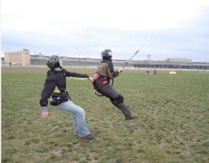 in der Luft durch Kite