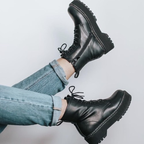 COMBAT BOOTS: With Skirts & Dresses