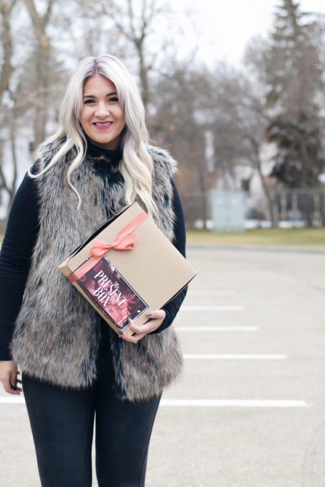 Fur vest Christmas giveaway