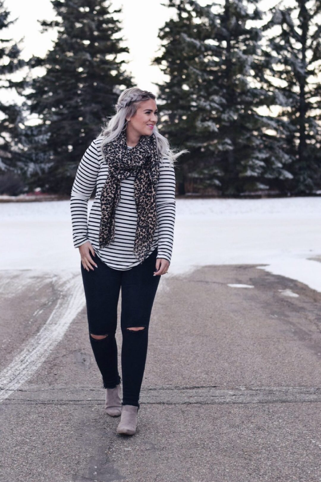 Print mixing 101: stripes & leopard