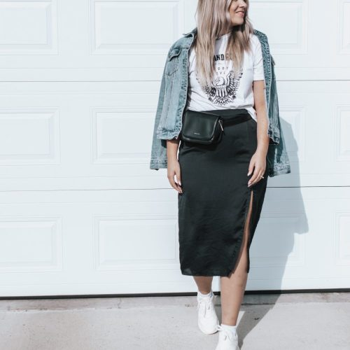 Style Session: Satin Black Midi Skirt