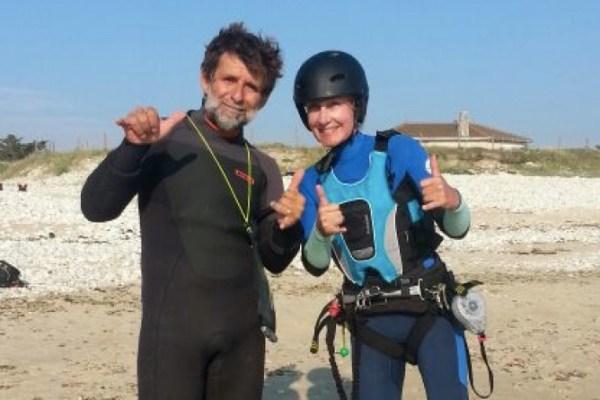 Cours de kitesurf à Oleron
