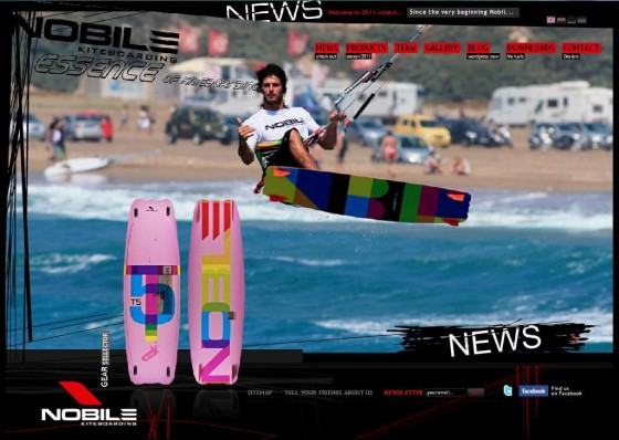 nobile kiteboarding website 2011