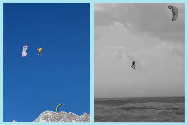 Snowkite S-Loop (Edgar Ulrich) vs Kitesurf S-Loop (Ruben Lenten)