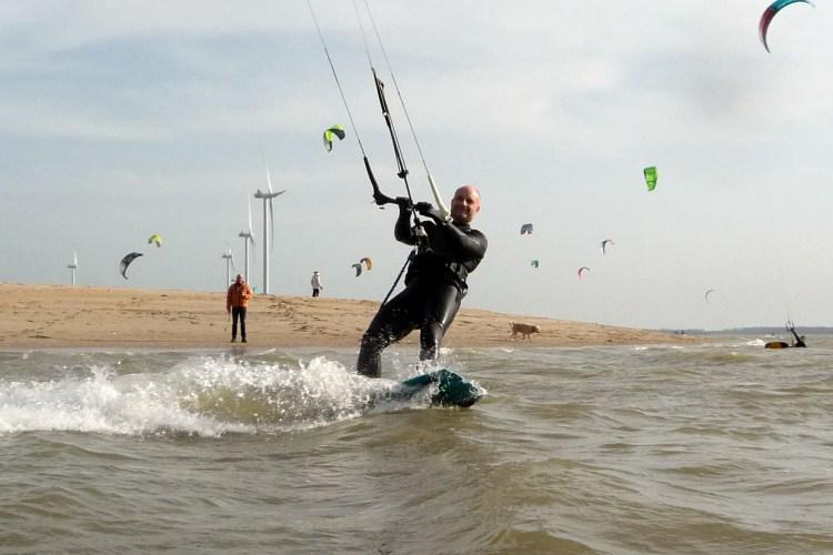 kitesurfing march the netherlands