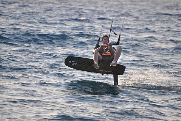 Kitefoil racer Tomi Deak