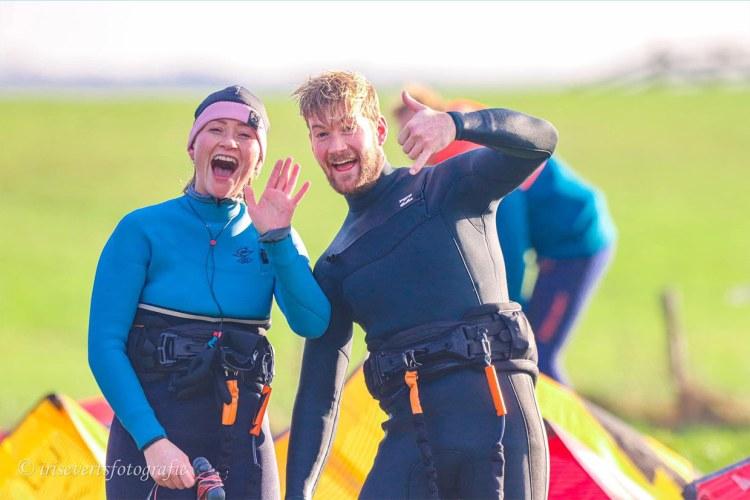 Kitesurfing April in the Netherlands