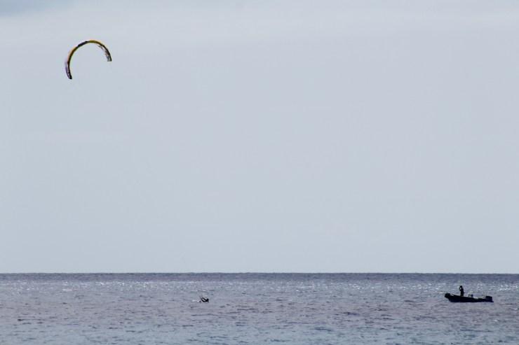 Learning kitesurf