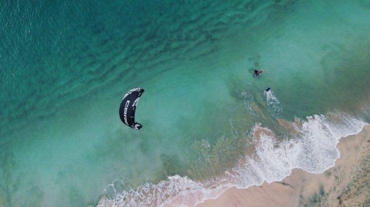 Body-drag et waterstart sal kitesurf