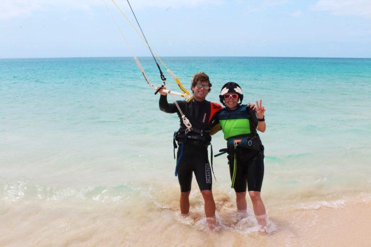 kitelessons on flat water sal island