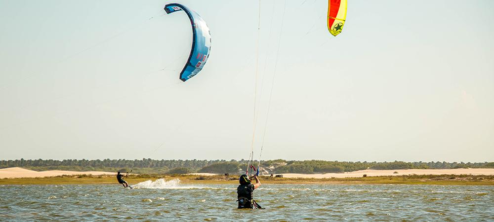 Lagoa para aprender o kitesurf perfeitamente