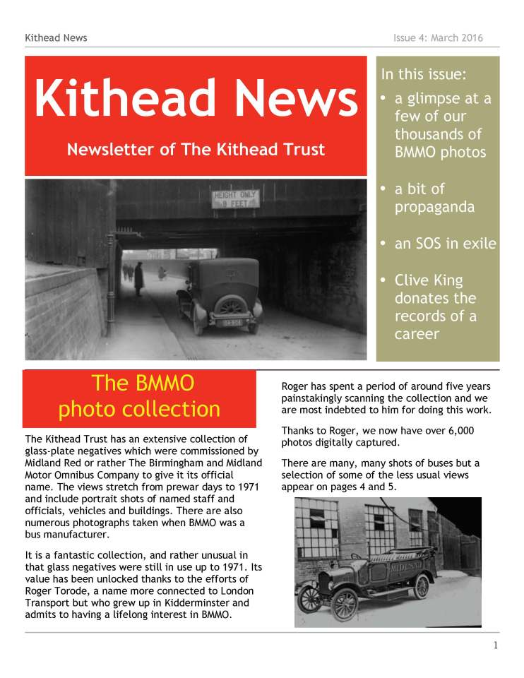 Kithead Newsletter 4 March 2016