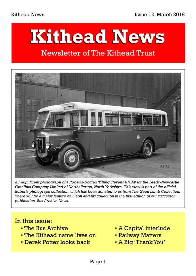 Kithead Newsletter 12 March 2018