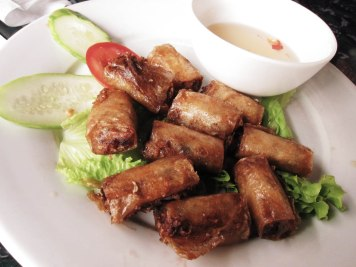 The most delicious spring rolls we ever had in Hanoi.