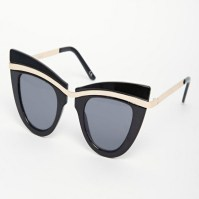 ASOS cat eye sunglasses with built up highbrow