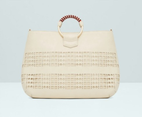 Mango perforated tote bag
